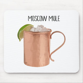 Moscow Mule Copper Mug Low Poly Geometric Design Mouse Pad
