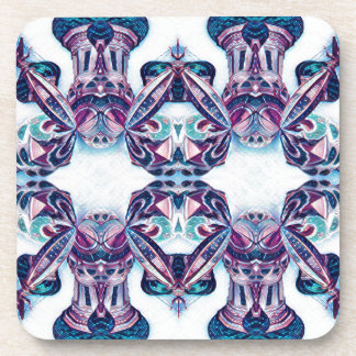 Moscow Painting Blue / Purple Coaster