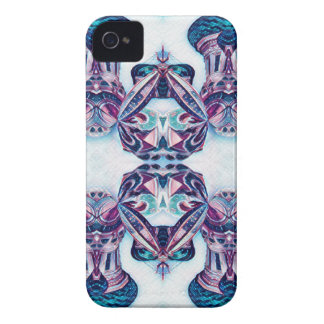 Moscow Painting Blue / Purple iPhone 4 Covers