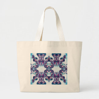 Moscow Painting Blue / Purple Large Tote Bag