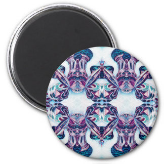 Moscow Painting Blue / Purple Magnet