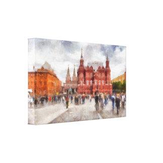 Moscow, Russia, Manezhnaya Square. Canvas Print