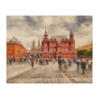 Moscow, Russia, Manezhnaya Square. Wood Print