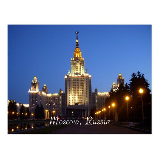 Moscow, Russia Post Card