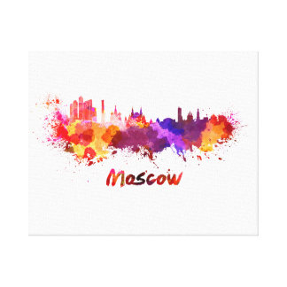Moscow skyline in watercolor canvas print