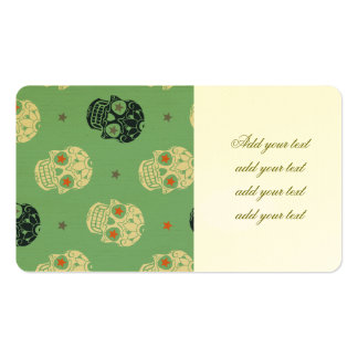 mose green,halloween,pattern,skulls,cute,scary,kid pack of standard business cards