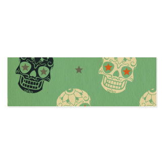 mose green,halloween,pattern,skulls,cute,scary,kid pack of skinny business cards