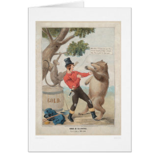 Mose in California: Set-to with a Bear (1475) Greeting Card