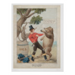 Mose in California: Set-to with a Bear (1475) Print