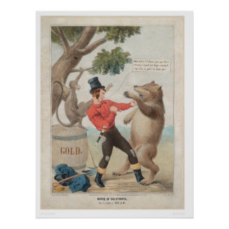 Mose in California: Set-to with a Bear (1475) Poster