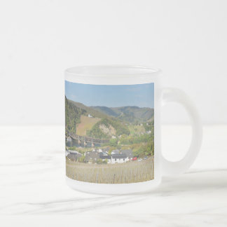 Moselle bridge with Bullay Frosted Glass Coffee Mug