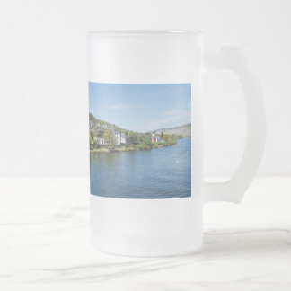 Moselle in Bernkastel Kues Frosted Glass Beer Mug