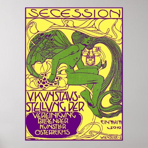Moser Poster: Vienna Secession Art Exhibition