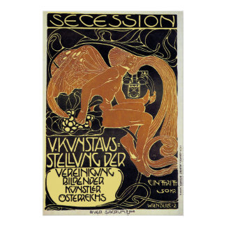 Moser Poster:  Vienna Secession Art Exhibition Poster