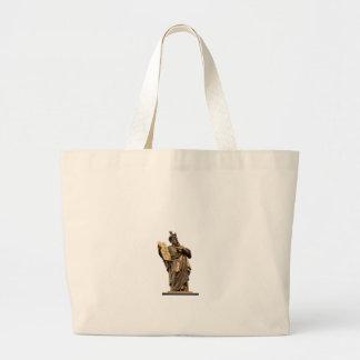 moses and ten commandments golden large tote bag