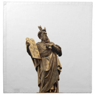 moses and ten commandments golden napkin
