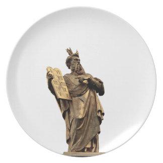 moses and ten commandments golden plate