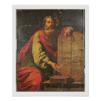 Moses and the Tablets of the Law Poster