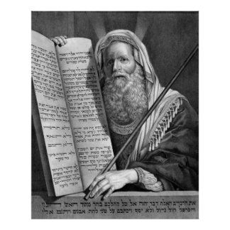 """Moses and the Ten Commandments"" print/poster Poster"