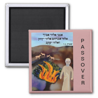 Moses at the Burning Bush Passover Magnet