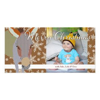 Moses II Christmas Brown Photo Card