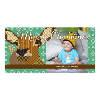 Moses II Christmas Green Photo Card
