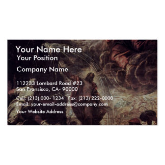 Moses Striking Water From The Rock By Tintoretto J Business Card Template