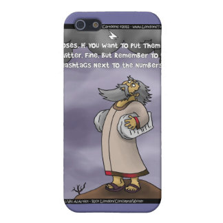Moses & The 10 Twitter Hashtags Funny Gifts &  iPhone 5 Cases