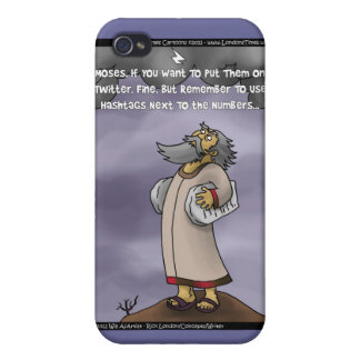 Moses The 10 Twitter Hashtags Funny Gifts iPhone 4 Cover
