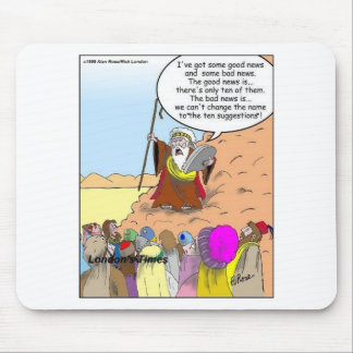 Moses & The Ten Suggestions Funny Gifts & Tees Mouse Pad