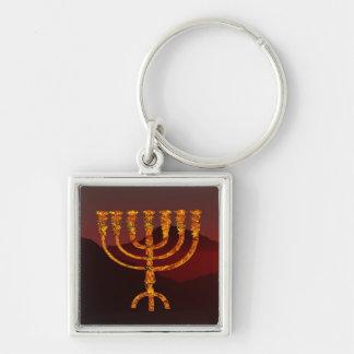 Moshe's Menorah Key Ring