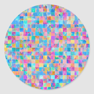 Mosiac tiles round sticker