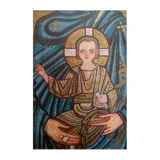 Mosic Of Baby Jesus Acrylic Print