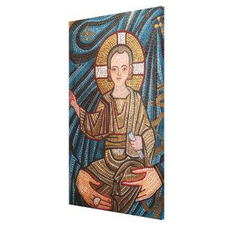 Mosic Of Baby Jesus Canvas Print