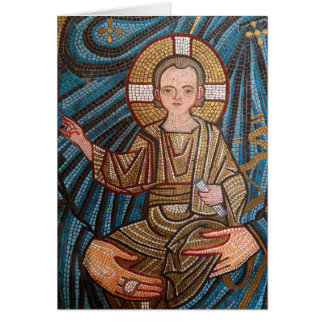 Mosic Of Baby Jesus Card