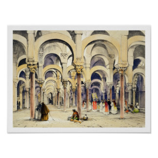 Mosque at Cordoba, from 'Sketches of Spain', engra Poster