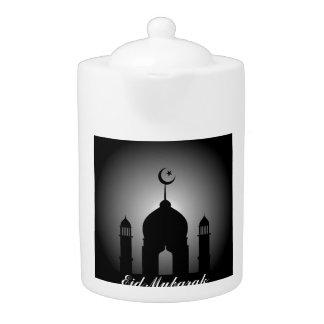 Mosque dome and minaret silhouette