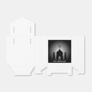 Mosque dome and minaret silhouette favour box