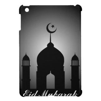 Mosque dome and minaret silhouette iPad mini cover