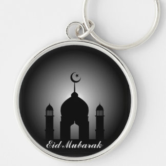 Mosque dome and minaret silhouette key ring