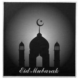 Mosque dome and minaret silhouette napkin