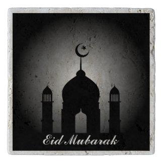 Mosque dome and minaret silhouette trivet