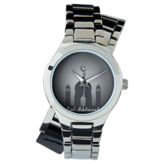 Mosque dome and minaret silhouette watch