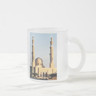 Mosque in Aswan Egypt Frosted Glass Coffee Mug