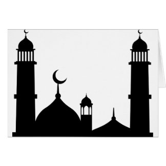 Mosque Silhouette Card