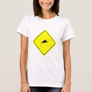 Mosquito Warning Sign Nuisance insect/bug pest T-Shirt