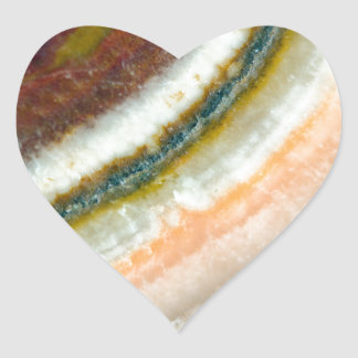 Moss Cafe Quartz Crystal Heart Sticker