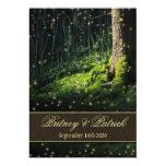 Moss Enchanted Forest Firefly Wedding Invitations 13 Cm X 18 Cm Invitation Card