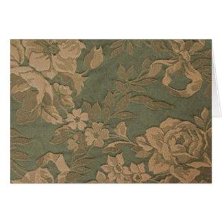 Moss flowers card