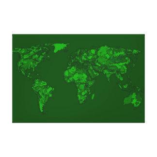 Moss green atlas canvas print